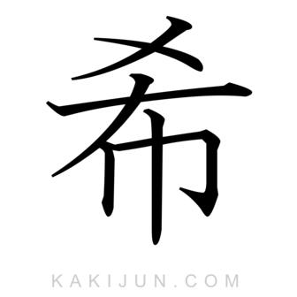 「希」を含む四字熟語