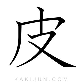 「皮」を含む四字熟語