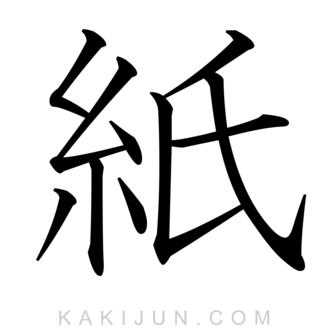 「紙」を含む四字熟語