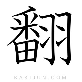 「翻」を含む四字熟語