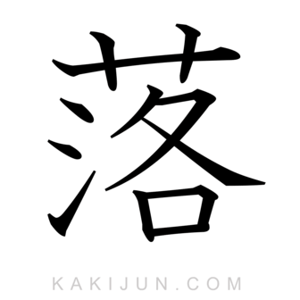 「落」を含む四字熟語