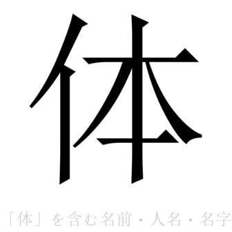 「体」を含む名前・人名・苗字(名字)