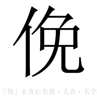「俛」を含む名前・人名・苗字(名字)