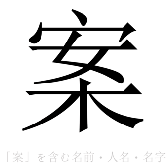 「案」を含む名前・人名・苗字(名字)