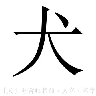「犬」を含む名前・人名・苗字(名字)